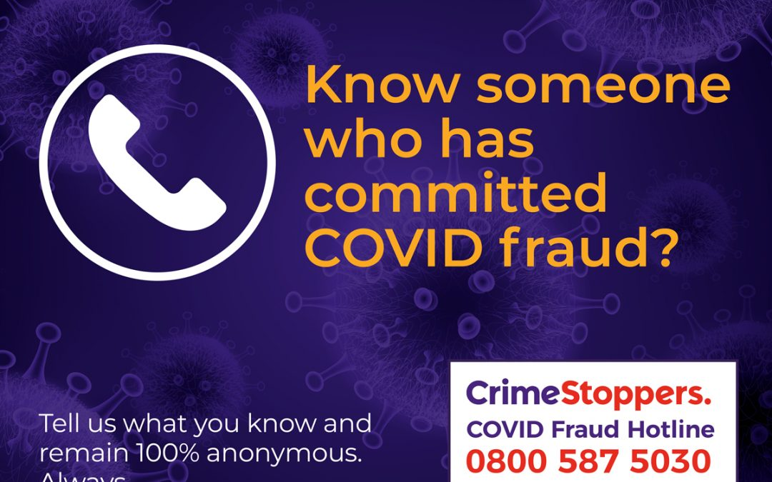 Don't let fraudsters abuse Covid support